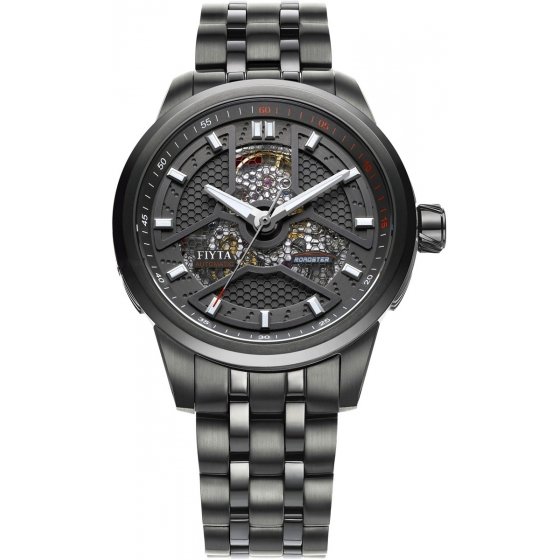 GA8460.BBB-Extreme Roadster Skeleton Automatic Black - Fiyta