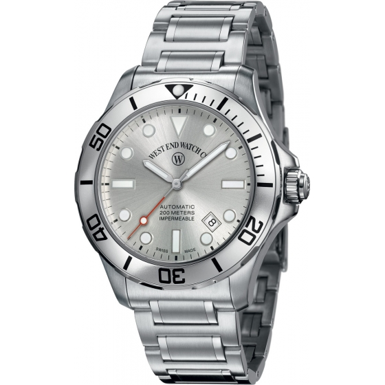 6850.10.3334-ALGR-Impermeable Automatic Silver - West End Watch Co.