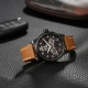 WGA1008.BBR-Extreme Roadster Skeleton Automatic Black/Brown - Fiyta