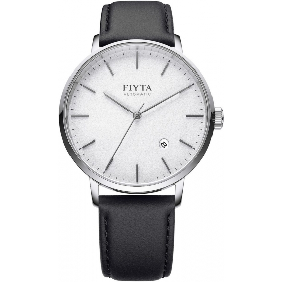 GA802057.WWB-Classic Automatic Silver/Black Leather - Fiyta
