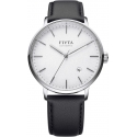 Classic Automatic Silver/Black Leather - Fiyta
