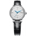 Floriography Automatic Silver/Black Leather - Fiyta