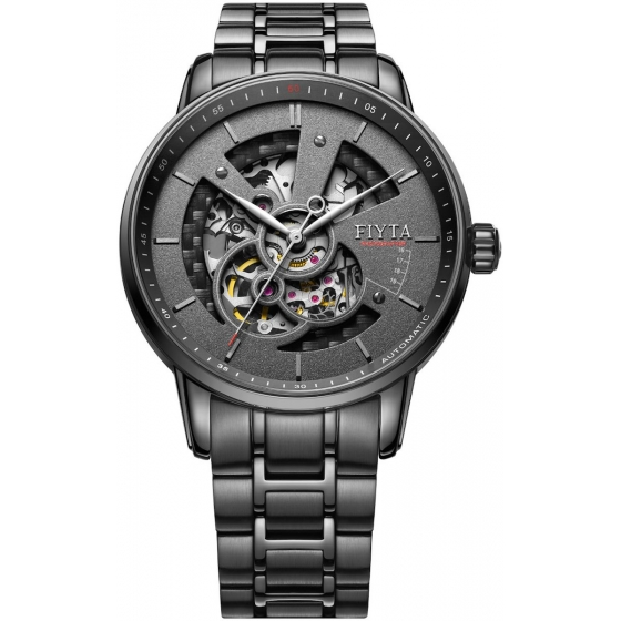 GA8486.BBB-Photographer Skeleton Automatic Black - Fiyta