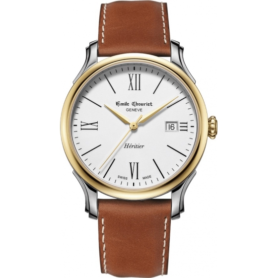 08.1128.G.6.0.28.2 -Héritier Automatic White/Gold/Leather - Emile Chouriet
