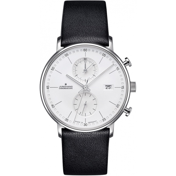 041/4770.00-Form C Chronograph Index Acier/Noir - Junghans