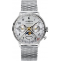 LZ 129 Hindenburg Moonphase 36mm Argent/Milanaise - Zeppelin