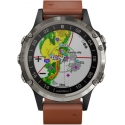D2 Delta Aviator Watch Titanium/Brown Leather Band - Garmin