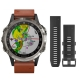 010-01988-31-D2 Delta Aviator Watch Titanium/Brown Leather Band - Garmin