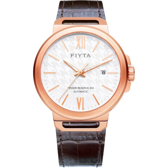 GA852000.PWK -Solo Power Reserve 60h Rose Gold/White Leather - Fiyta