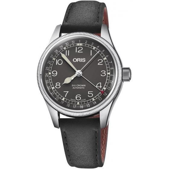 01 754 7749 4064-07 5 17 65G -Big Crown Pointer Date 36mm Black/Black Leather - Oris