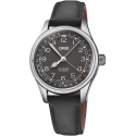 Big Crown Pointer Date 36mm Black/Black Leather - Oris