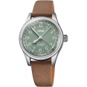 Big Crown Pointer Date 36mm Green/Light Brown Leather - Oris