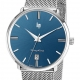 671424-Dauphine 38mm Silver/Blue/Milanese - LIP