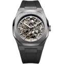 Skeleton Rubber 41,5mm Gun Metal - D1 Milano