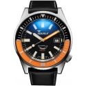 60 Atmos Matic Black/Orange Brushed - Squale