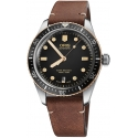 Divers Sixty-Five 40mm Bronze Bezel Black/Light Brown Leather - Oris