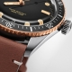 01 733 7707 4354-07 5 20 45 -Divers Sixty-Five 40mm Bronze Bezel Black/Light Brown Leather - Oris
