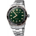 Divers Sixty-Five 40mm Bronze Bezel Green Steel - Oris