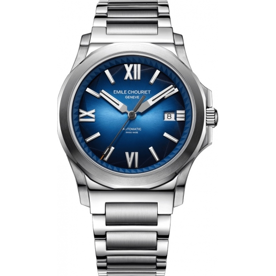 08.1170.G.6.6.N8.6-Ice Cliff Automatic Sunray Blue/Steel - Emile Chouriet