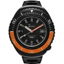 101 Atmos 2002 Black Case Black/Black/Orange - Squale