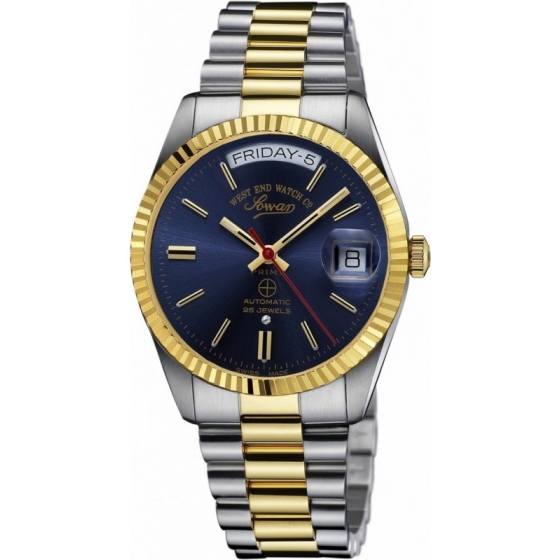 6828.20.3226-The Classics Automatic Silver/Gold/Blue - West End Watch Co.