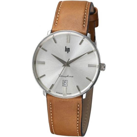 671422-Dauphine 38mm Silver/Gold Leather - LIP