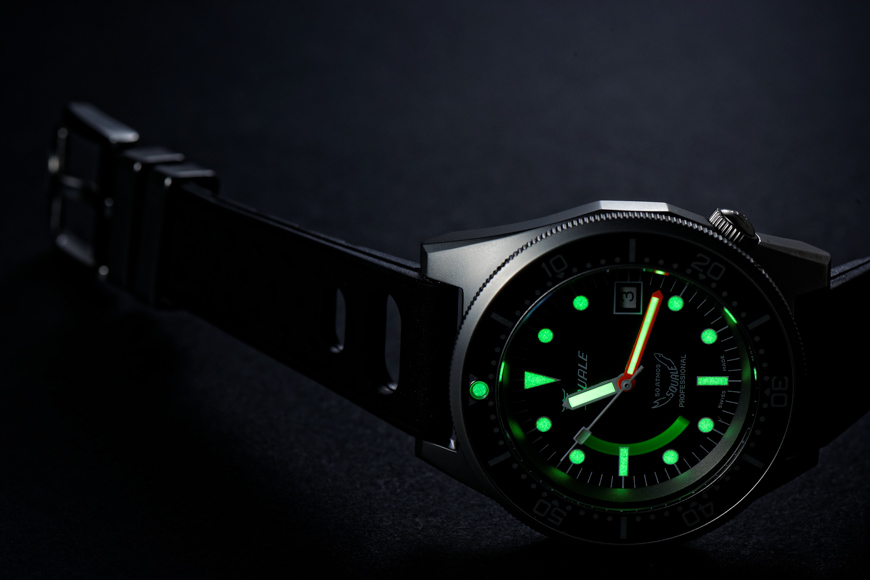 Montre Squale 1521 Blasted 50 ATMOS - Luminescence SuperLuminova